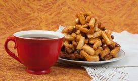 Sweetness and tea Stock Photos