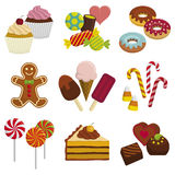 Sweets. Set of sweets. Vector illustration Royalty Free Stock Images