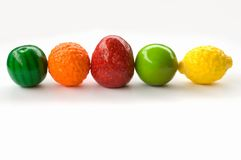 Sweets. Gum,candy(gummy fruit sweets Stock Image