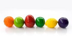 Sweets. Gum,candy(gummy fruit sweets Royalty Free Stock Photo