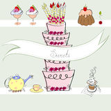 Sweets. Universal template for greeting card, web page, background Royalty Free Stock Image