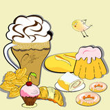 Sweets. Universal template for greeting card, web page, background Royalty Free Stock Images