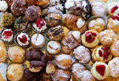 Sweets. Tray of sweets varied typical of Sicily Royalty Free Stock Images