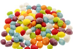 Sweets. Sea pebbles it is isolated on a white background Royalty Free Stock Image