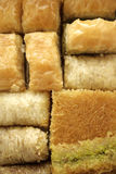 Sweets. Traditional mediterranean sweets from arabic and middle eastern cuisine stock photo