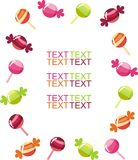 Sweets. Bright fruit candy and lollipops Royalty Free Stock Image