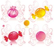 Sweets. Allsorts from colorful sugar sweets Stock Photos