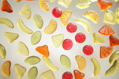 Sweets. On glass royalty free stock photo