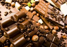 Sweets. Chocolate is one of the most delicious sweets in the world Stock Photos