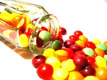 Sweets. Image of a spilled jar of sweets Stock Photography