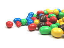 Sweets. Some chocolate covered peanuts in different colors Stock Image