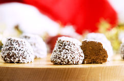 Sweets. Christmas themed sweets laid out on table Royalty Free Stock Image