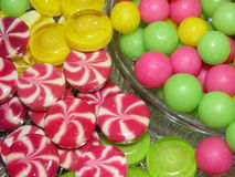 Sweets. Various colourful sweets for background Royalty Free Stock Photos
