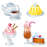 Sweets. Sweet food and drinks, vector image. See the same images in my portfolio Stock Photo