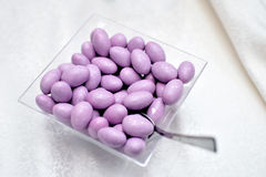 Sweets. Arranged for reception in glass bowl Royalty Free Stock Photos