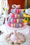 Sweets arrangements for wedding reception or similar events. Restaurant event food accessories decoration Royalty Free Stock Photography