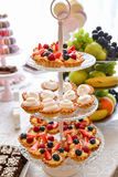 Sweets arrangements for wedding reception or similar events Royalty Free Stock Image