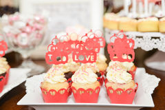 Sweets arrangements for wedding reception or similar events Stock Photography