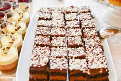 Sweets arrangements for wedding reception or similar events Stock Images