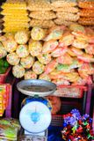 Sweets at Asian market Royalty Free Stock Photos