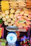 Sweets at Asian market Royalty Free Stock Photos