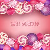 Sweets background Stock Photos