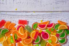 Sweets on the background for the substrate texture. Sweetness on the background for substrate texture, site, and instagram , website headers Stock Image