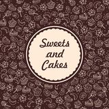 Sweets and bakery background Royalty Free Stock Image