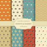 Sweets and bakery seamless pattern Royalty Free Stock Images