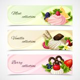 Sweets banners horizontal Stock Photo