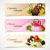 Sweets banners horizontal Royalty Free Stock Image
