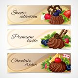 Sweets banners horizontal Stock Images