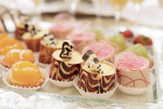 Sweets on banquet table Royalty Free Stock Photo