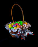 Sweets Basket. Nice basket full of color ball sweets Royalty Free Stock Photography