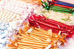 Sweets in beautiful wrappers Stock Photo