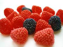 Sweets of a berry. (raspberry and blackberry Stock Image