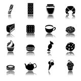 Sweets black icons set Stock Photography