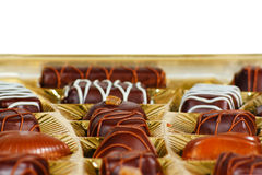 Sweets from a black and white chocolate Stock Image