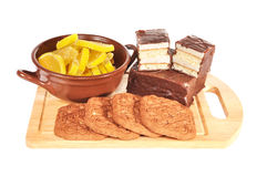 Sweets on a board Royalty Free Stock Photography