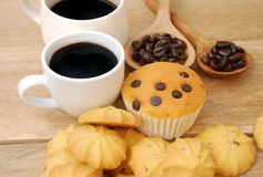 Sweets breakfast Stock Images