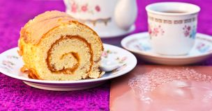 Sweets cake yellow Stock Images