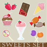 Sweets and cakes Stock Images