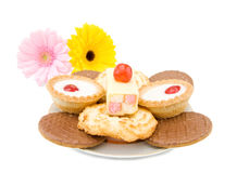 Sweets, Cakes And Biscuits Stock Photography
