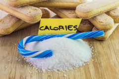 Sweets, calories concept Stock Image