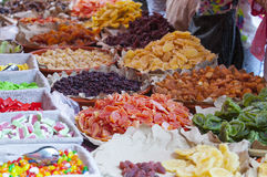 Sweets, candied, dried fruit and jellies Stock Images