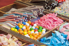Sweets, candied and jellies at street market stall Stock Photo