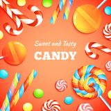 Sweets And Candies Background Royalty Free Stock Images