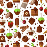 Sweets and candies, chocolate  ice cream seamless Stock Image