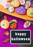 Sweets and candies for Halloween Royalty Free Stock Photos
