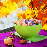 Sweets and candies for the holiday halloween Royalty Free Stock Photos